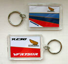COLOUR MATCHED HONDA RC30 VFR750R & NC30 VFR400R LIMITED EDITION KEY RING FOB