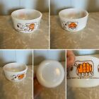 1958 Fire king Snoopy Orange Ice Cream Bowl