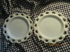 Antique MIlk Glass Set of Two 2 8 1 4Scalloped Edge Dessert Plates