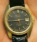 Vintage King SEIKO Automatic 56KS Hi-Beat 5625-7000 Watch GOLD & Black Dial Date