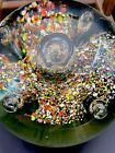 Huge Murano Controlled Bubble Art Glass Sphere Orb Paperweight 5x5 5lbs