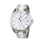 Tommy Hilfiger 1781768 Men Stainless Steel Analog White Dial Wrist Watch E46-24