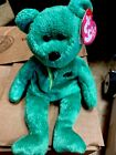 2002 Retired Ty Beanie Baby Babies Dublin Green Irish Bear Plush With Tag