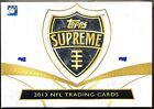 2013 Topps Supreme Football Factory Sealed HOBBY Box
