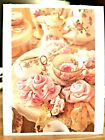 KITTYS NOTE CARDS Set of 10 + Envelopes Pink Roses