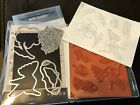 Stampin Up RETIRED Unmounted Humming Along Stamp Set with Framelits