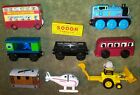 Lot of 8 THOMAS TRAINS BERTIE / BULGY/ HAROLD/SCOOP/AQUARIUM/CARGO/TOBY/THOMAS