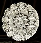 19 c Signed Hawkes American Brilliant Period cut Crystal Holland pattern Dish