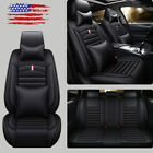 13deluxe Pu Leather Car Seat Cover Cushion Protector 5-seats Full Set Universal