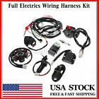 Full Electrics Wiring Harness Loom CDI Coil For GY6 150CC ATV Quad Go Kart USA