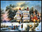 Chart Needlework Crafts DIY - Counted Cross Stitch Patterns - Winter Twilight