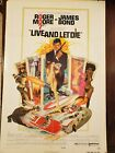 ROGER MOORE JAMES BOND LIVE AND LET DIE 1972 ONE SHEET POSTER 27x 41