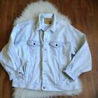 Vntg 90s Mens Levis Light Blue Faded Denim Jean Jacket Size XXL Relaxed Fit