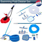 Swimming Pool Cleaner Above Ground Clean Pool Sweeper Vacuum Hose Brush Pole Set