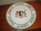Large Antique Chinese Export Armorial Porcelain 10 Plate Heavy Hand Painted Art