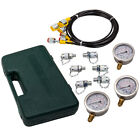 Hydraulic Pressure Gauge Test Tester Diagnostic Couplings Kit Excavator