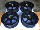 Lotus Oem Exige Black 16 and 17 Factory Wheels Excellent Condition