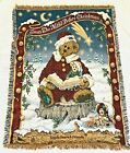 BOYDS BEARS Tapestry Throw Afghan Twas The Night Before Christmas Bear Reading