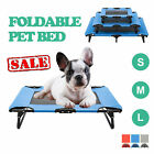 Elevated Dog Cat Bed Cooling Pet Cot Lounger Folding Portable Red Blue Grey