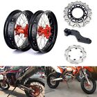 17'' Supermoto Wheels Set Brake Rotors For KTM EXC SX-F XC 125 250 450 530 92-09