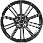 4 GWG Wheels 20 inch STAGGERED Black FLOW Rims fits CADILLAC CTS SEDAN 2008 2018