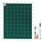 Rectangle Green Mesh In Ground Swimming Pool Safety Cover 15 Year 16x28