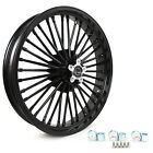 Gloss Black Fat Spoke 21 x 35 Front Wheel Dual Disc For Harley Electra Glide