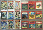 RARE Vintage 1983 Fleer DRAGONS LAIR Rub Off Game and Sticker Card Lot of 23