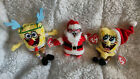 TY SpongeBob Christmas Jingle Beanie Baby Set of 3 MWMT Patrick Claus SleighRide