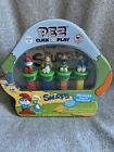 Pez Click And Play Smurfs Set Sour Blue Raspberry Includes Smurf Gameboard