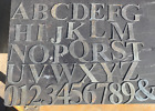3 tall Metal letters  numbers Time Roman font cut from recylced 14g steel