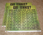 Scrappin Sports  More Got Tennis Double Sided Paper2 Tennis Blocks