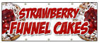 Strawberry Funnel Cakes Banner Sign Bakery Cake Cookies Pastry Bread