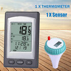 Wireless Remote Floating Thermometer Swimming Pool Waterproof New Tub Pond
