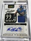 2011 National Treasures Notable Auto Jersey Giants Michael Strahan 15 GAME WORN