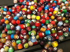 1 4 pound mixed colors Spacer Pony glass BEADS Jewelry Making Supply lot