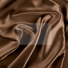 Silky French Brown Charmeuse Stretch Satin Fabric By The Yard 60 Wide