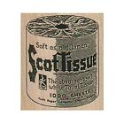 Mounted Rubber Stamp ScotTissue Toilet Paper Toilet Paper Roll Vintage TP Ad