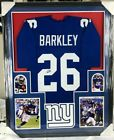 Saquan Barkley NY GIANTS Autographed Framed Jersey - JSA Authenticated!!