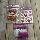 NEW Valentine Craft Supplies Bows Stickers Puffy Hearts Scrapbooking
