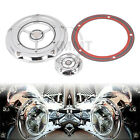 Chrome Aluminum RSD Derby Timing Timer Engine Cover For Harley Dyna Softail FLHT