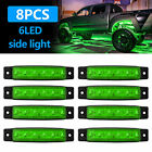 8X Green LED Rock Light For JEEP Offroad Truck UTV Bed Under Body Fog Lights 12V