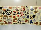 Vintage Beanie Babies Sticker Sheets Lot Of 3 Animal Stickers Teddy Bear
