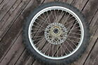 98 99 00 YAMAHA WR400F WR 400 FRONT WHEEL RIM BRAKE ROTOR NO TIRE