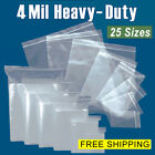 Assorted Clear 4-mil Ziplock Bags Heavy-duty Reclosable Plastic Zip Lock Baggies