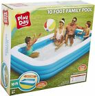 Inflatable Playday 10 ft Kids Swimming Pool Intex Round 8 ft and 6 ft Summer