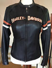HARLEY DAVIDSON Womens Size MEDIUM Vented Leather Jacket in Great Condition