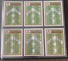 Unmarked 1988 Topps Baseball Checklist lot of all 6 from set