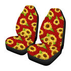2pcs Universal Car Seat Covers Front Row Set Car Sun Flower Printed Protector