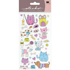 Sticko Cute Dog Cat Pets Animals Stickers Planner Papercraft Party Journal